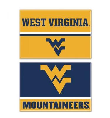 West Virginia 2 pk Rectangle Fridge Magnets
