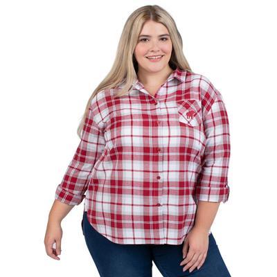 Alabama PLUS SIZE Women's Boyfriend Plaid Shirt