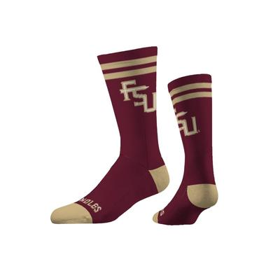 Florida State Strideline FSU Logo Crew Socks