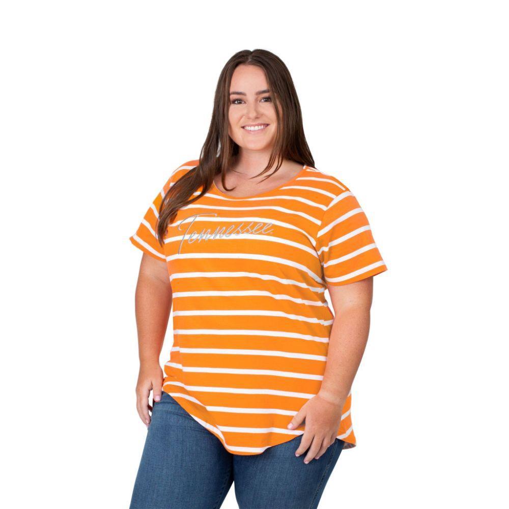 Tennessee Plus Size Women's Stripe Tee