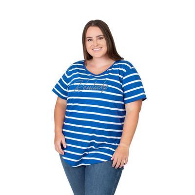Kentucky PLUS SIZE Women's Stripe Tee