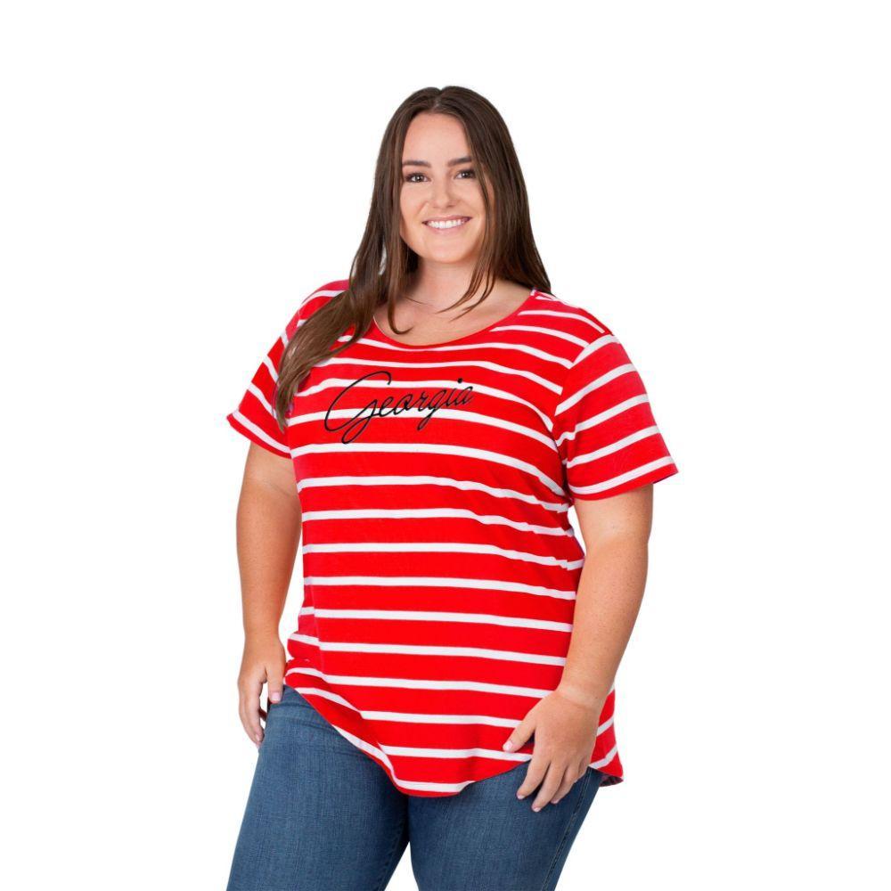 Georgia Plus Size Women's Stripe Tee