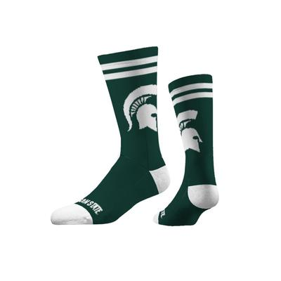Michigan State Strideline Spartan Logo Crew Socks