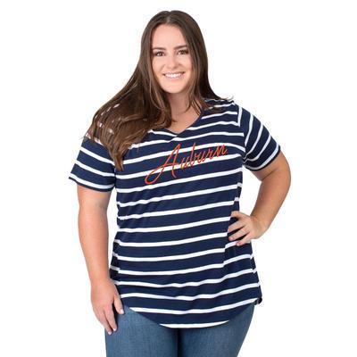 Auburn PLUS SIZE Women's Stripe Tee