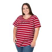 Arkansas Plus Size Women's Stripe Tee