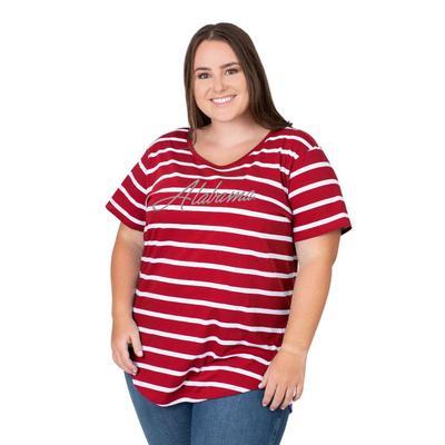 Alabama PLUS SIZE Women's Stripe Tee
