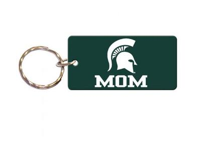 Michigan State Mom Key Chain