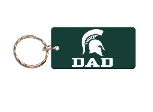 Michigan State Dad Key Chain