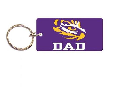 LSU Dad Key Chain