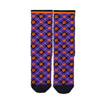 Clemson Strideline Full Sublimated Crew Socks
