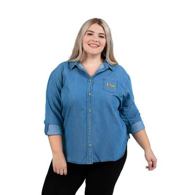 LSU PLUS SIZE Women's Denim Shirt