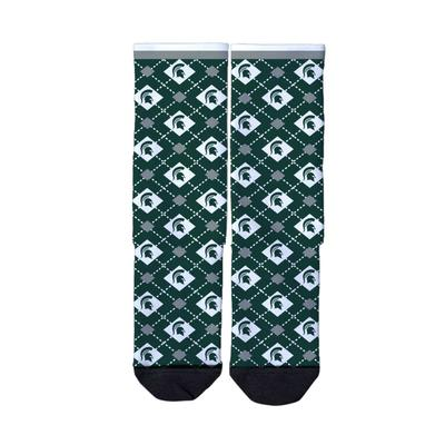 Michigan State Strideline Full Sublimated Crew Socks