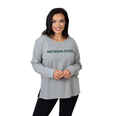 Michigan State University Girls Women's Ribbed Pullover