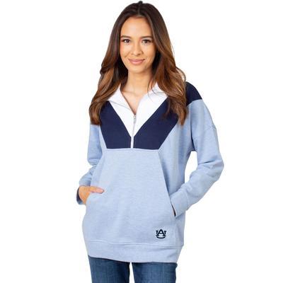 Auburn University Girls Women's Color Block 1/4 Zip Pullover