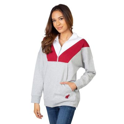Alabama University Girls Women's Color Block 1/4 Zip Pullover
