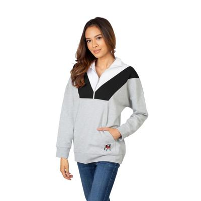 Georgia University Girls Women's Color Block 1/4 Zip Pullover