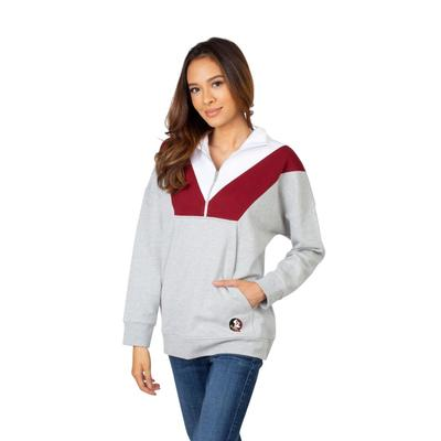 Florida State University Girls Women's Color Block 1/4 Zip Pullover
