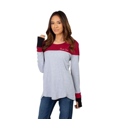 Florida State University Girls Women's Color Block Long Sleeve Top