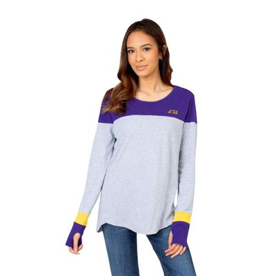 LSU University Girl Women's Color Block Long Sleeve Top