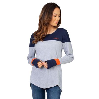 Auburn University Girls Women's Color Block Long Sleeve Top