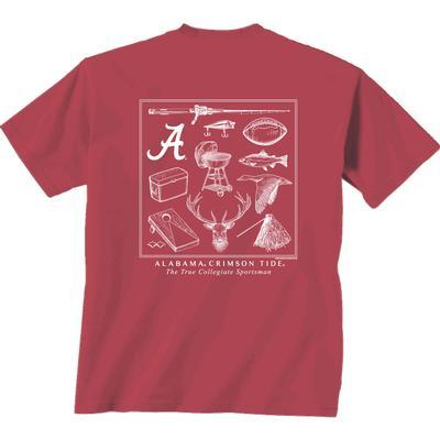Alabama Sportsman Montage Comfort Colors Tee