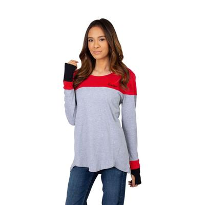 Georgia University Girls Women's Color Block Long Sleeve Top
