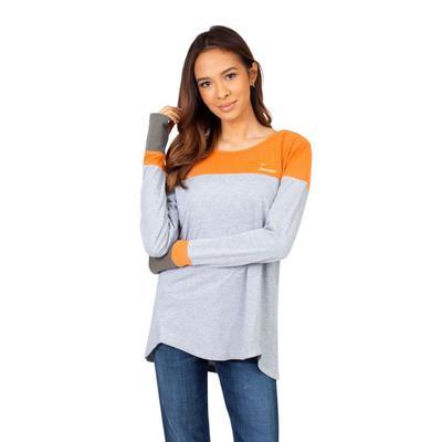 Tennessee University Girls Women's Color Block Long Sleeve Top