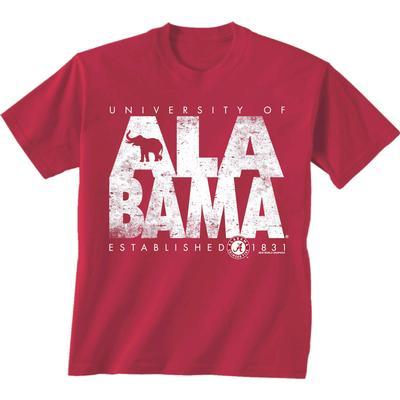 Alabama Stack Short Sleeve Tee Shirt