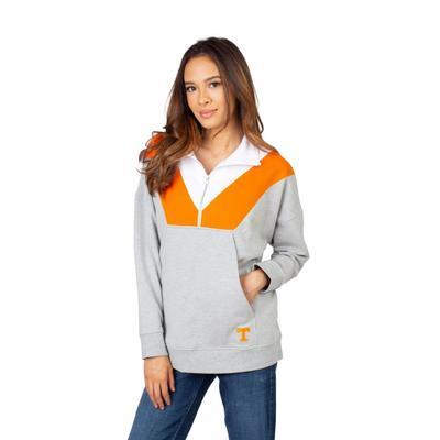 Tennessee University Girls Women's Color Block 1/4 Zip Pullover