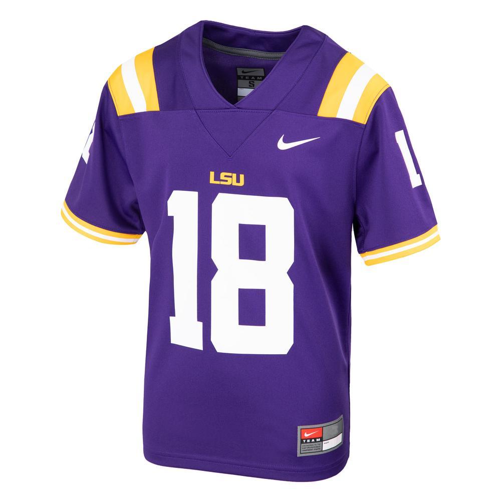 Lsu Nike Toddler # 18 Replica Football Jersey