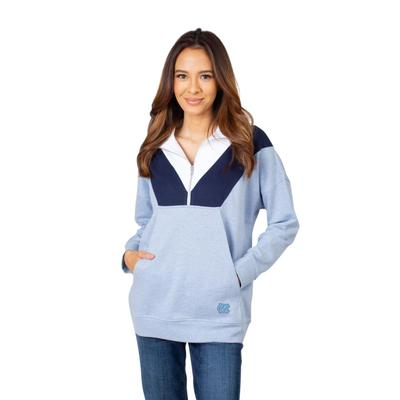 UNC University Girls Women's Color Block 1/4 Zip Pullover
