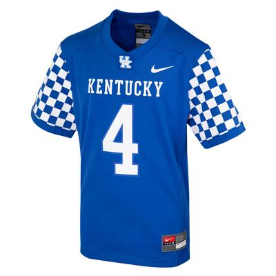 Kentucky Nike Kids #4 Replica Football Jersey
