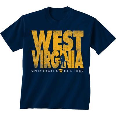 West Virginia University Established Date Short Sleeve Tee