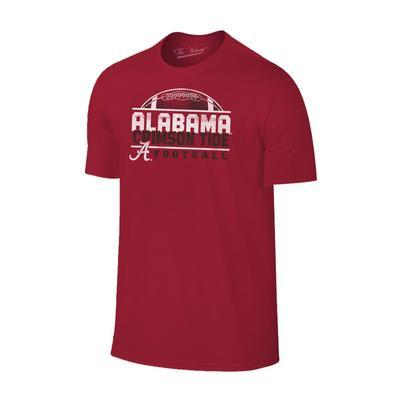 Alabama Men's Football Half Moon Distressed Tee