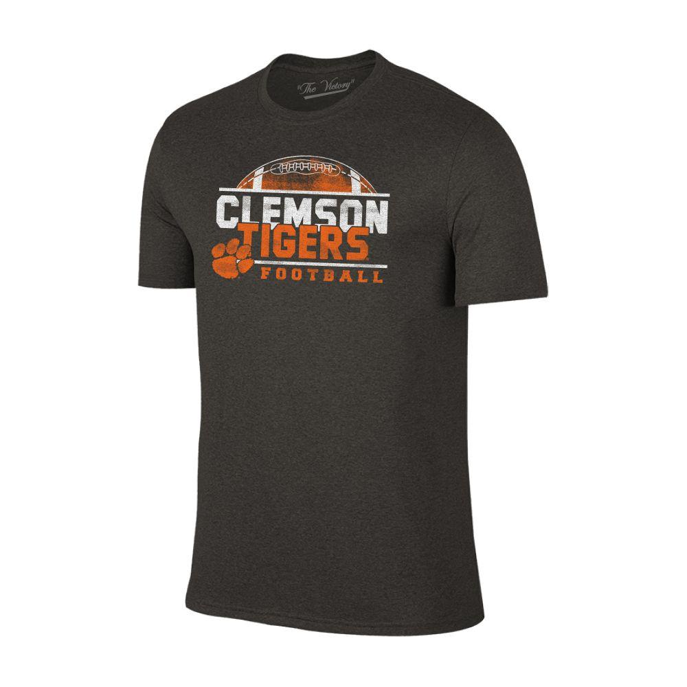 Clemson Men's Football Half Moon Distressed Tee
