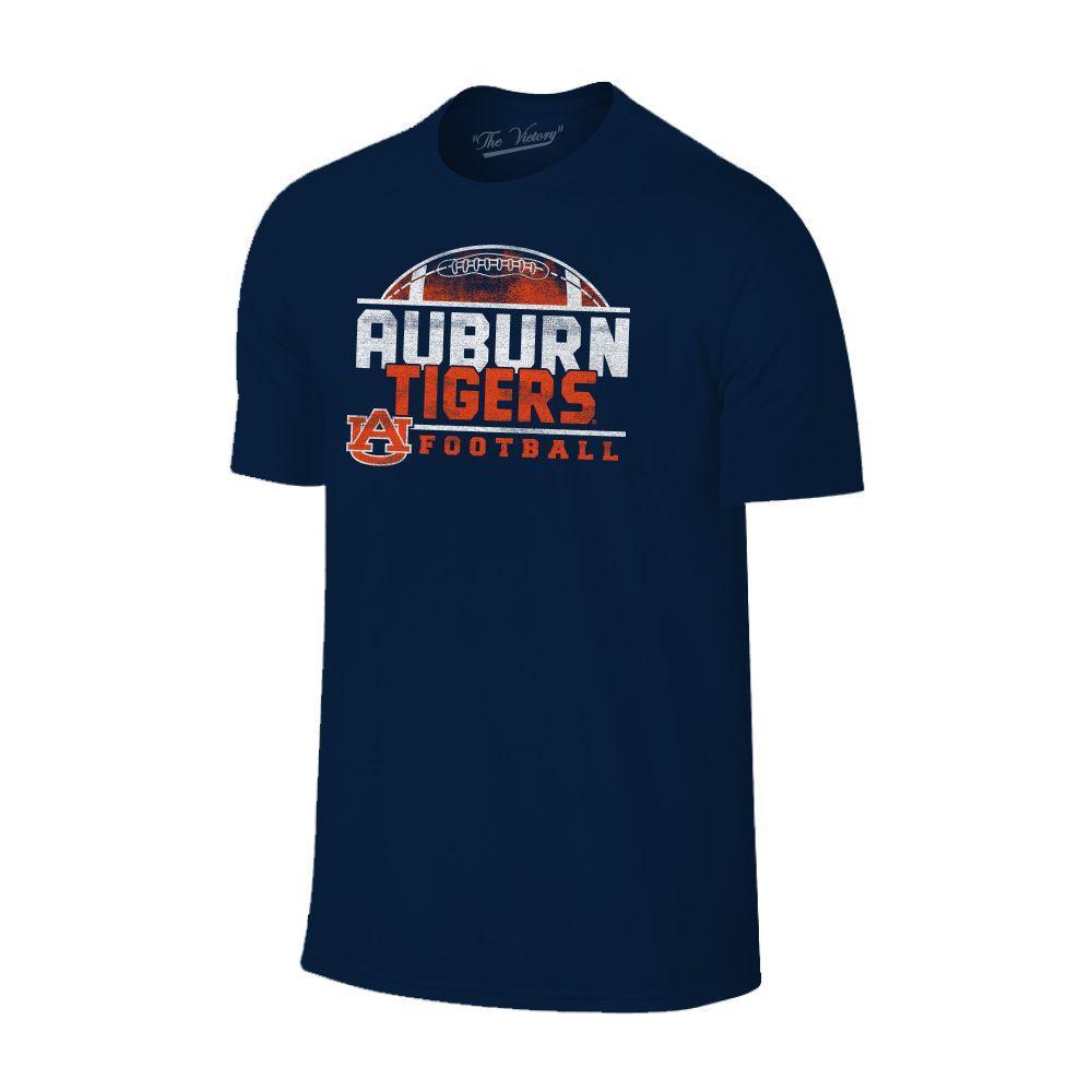 Auburn Men's Football Half Moon Distressed Tee