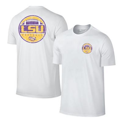 LSU Men's Football Circle Tee WHITE