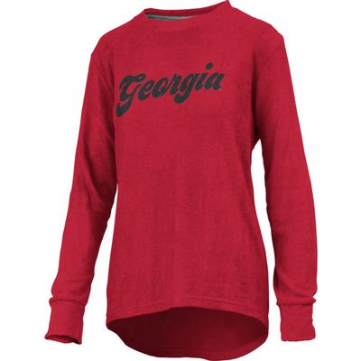 Georgia Pressbox Women's Morganton Cuddle Knit Crew