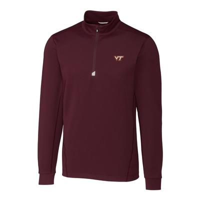 Virginia Tech Cutter & Buck Men's Traverse 1/2 Zip Pullover