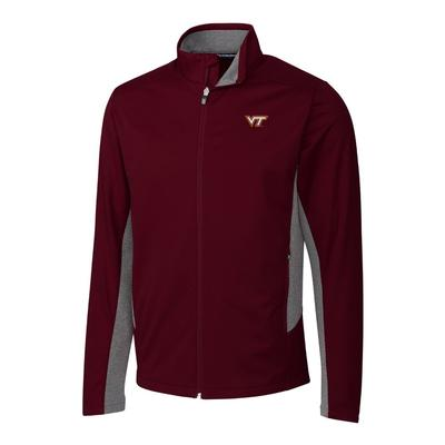 Virginia Tech Cutter & Buck Men's Navigate Softshell Jacket