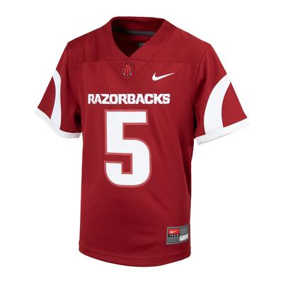 Arkansas Nike Kids #5 Replica Football Jersey