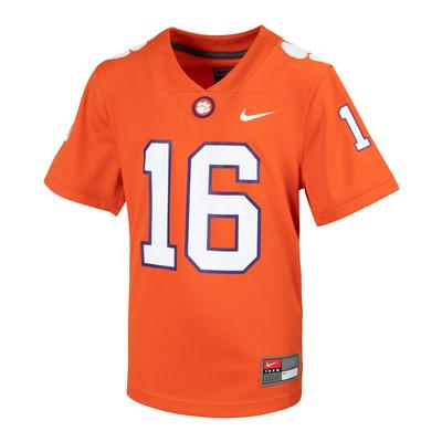 Clemson Nike Kids #16 Replica Football Jersey