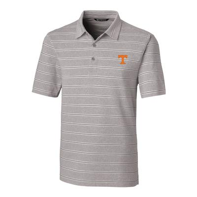 Tennessee Cutter & Buck Men's Forge Heather Stripe Polo