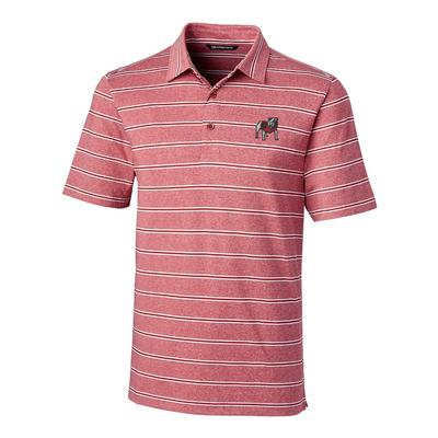 Georgia Cutter & Buck Men's Forge Heather Stripe Polo