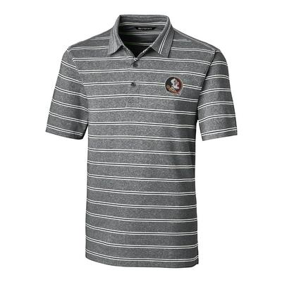 Florida State Cutter & Buck Men's Forge Heather Stripe Polo