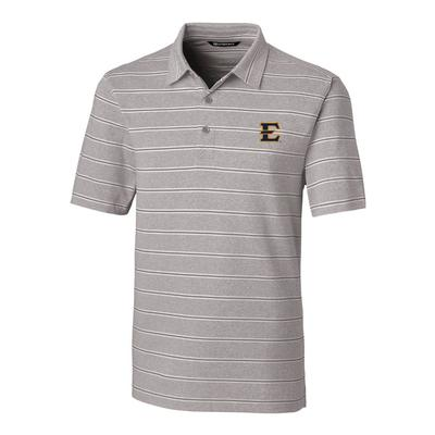 ETSU Cutter & Buck Men's Forge Heather Stripe Polo
