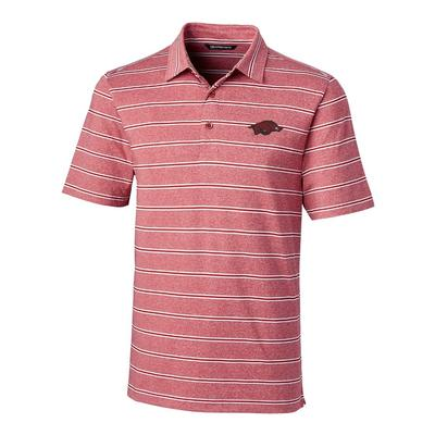 Arkansas Cutter & Buck Men's Forge Heather Stripe Polo