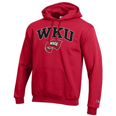 Western Kentucky Champion Men's Red Arch Screen Hoody