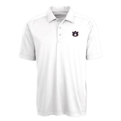 Auburn Cutter & Buck Men's Prospect Polo WHITE