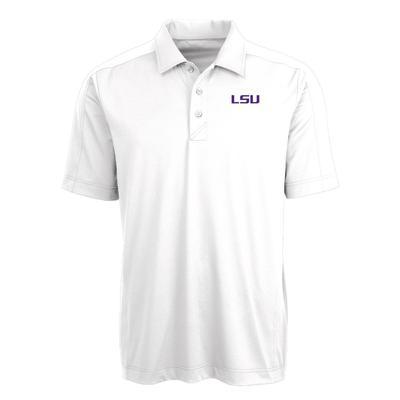 LSU Cutter & Buck Men's Prospect Polo WHITE
